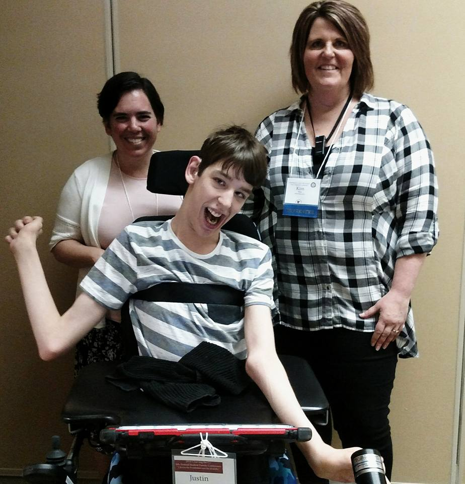 Justin with 2 women
