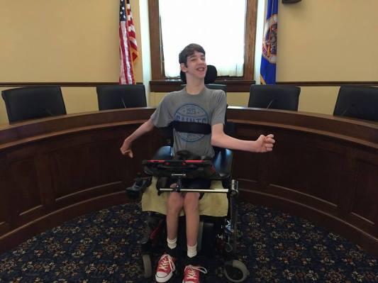 Justin in MN Senate Hearing Room