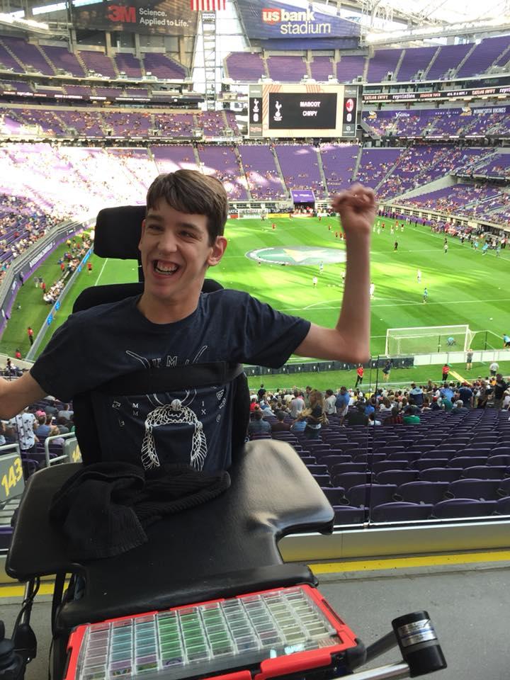 Justin in US Bank stadium