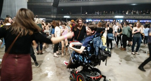 Justin dancing with others